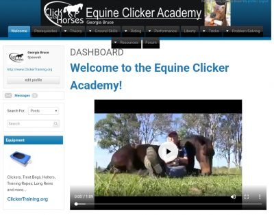Equine Clicker Academy - Online Course